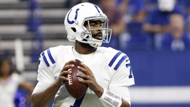 Jacoby Brissett has not recovered in time to play for the Indianapolis Colts against the Miami Dolphins on Sunday.