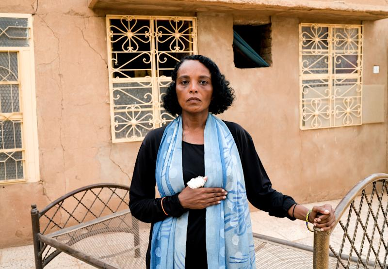 Khadija Saleh, 41, political activist and blogger, poses for a photograph in Khartoum, Sudan, June 28, 2019. (Photo: Umit Bektas/Reuters)