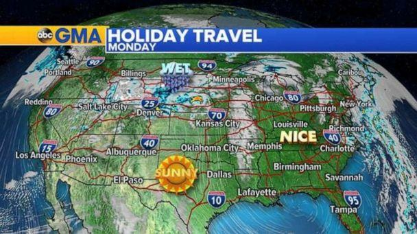 PHOTO: Much of the country will be very nice on Easter Sunday into Monday. (ABC News)