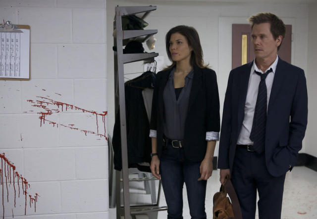 "Former FBI agent Ryan Hardy (Kevin Bacon) is brought in to help solve a crime in the new drama ""The Following."""