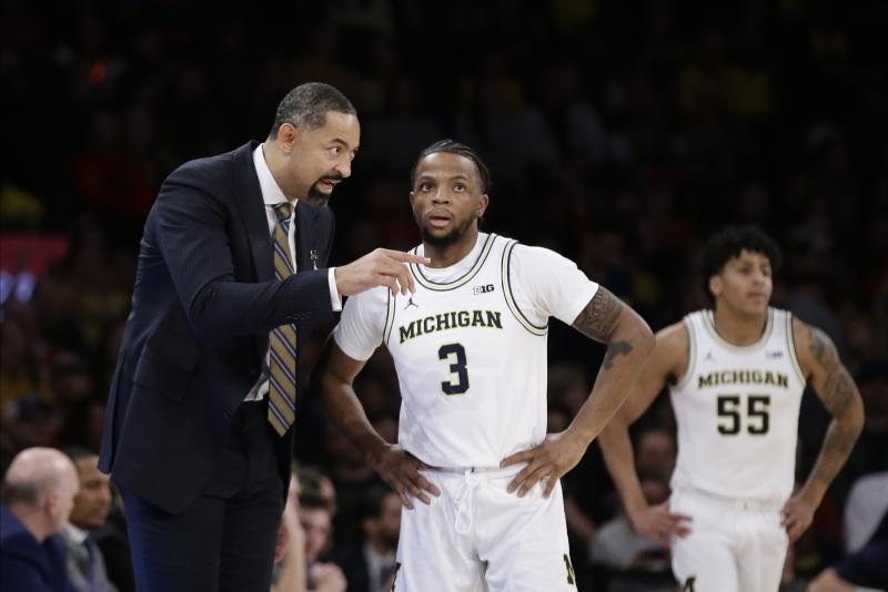 Michigan guard Zavier Simpson missed one game last month days after he crashed athletic director Warde Manuel's family car.