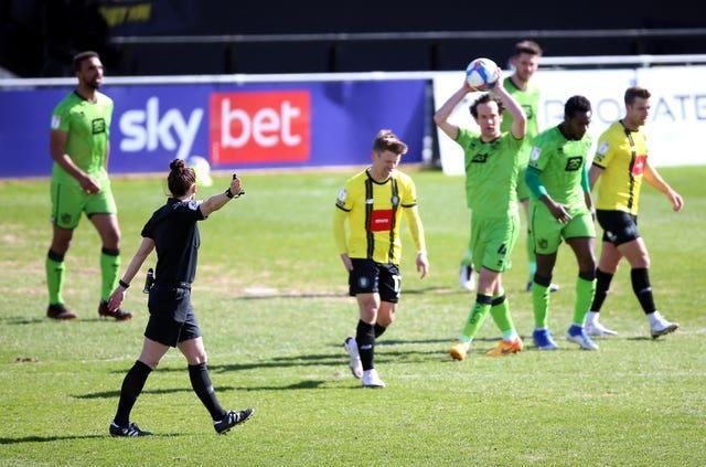 Welch took charge of clash between Harrogate and Port Vale in March