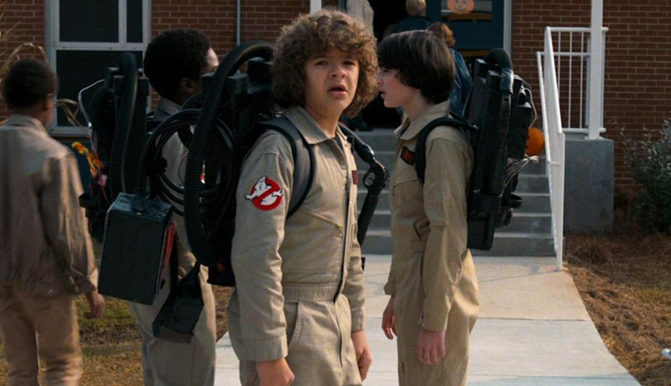 Dustin ain't afraid of no ghosts...? (credit: Netflix/Entertainment Weekly)