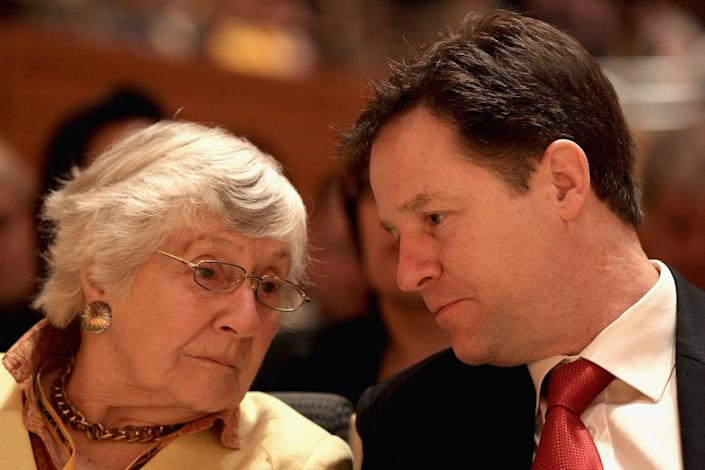 Williams with Nick Clegg in 2012Getty