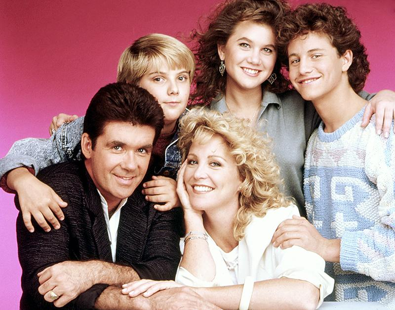 <p>Thicke will forever be remembered as doting dad/psychiatrist Jason Seaver on <i>Growing Pains</i>. The popular comedy ran for seven seasons on ABC and starred Thicke, Joanna Kerns, Kirk Cameron, Tracey Gold, and Jeremy Miller. A young Leonardo DiCaprio joined the cast for the show's final season. (Credit: Everett Collection) </p>