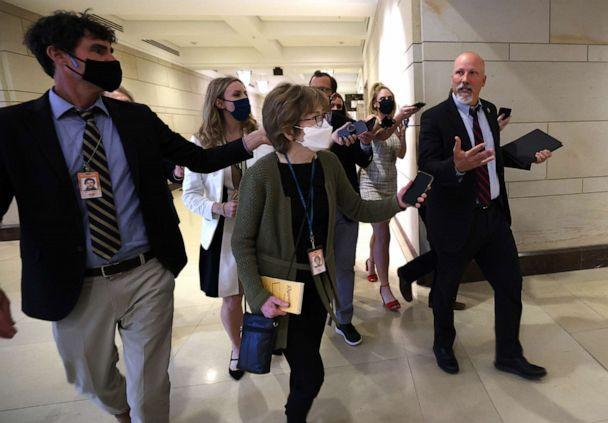 Rep. Chip Roy, R-Texas, speaks to reporters as he leaves a House Republican caucus candidate forum held to replace outgoing conference chair, Rep. Liz Cheney, R-Wyo., at the Capitol on May 13, 2021 (Kevin Dietsch/Getty Images)