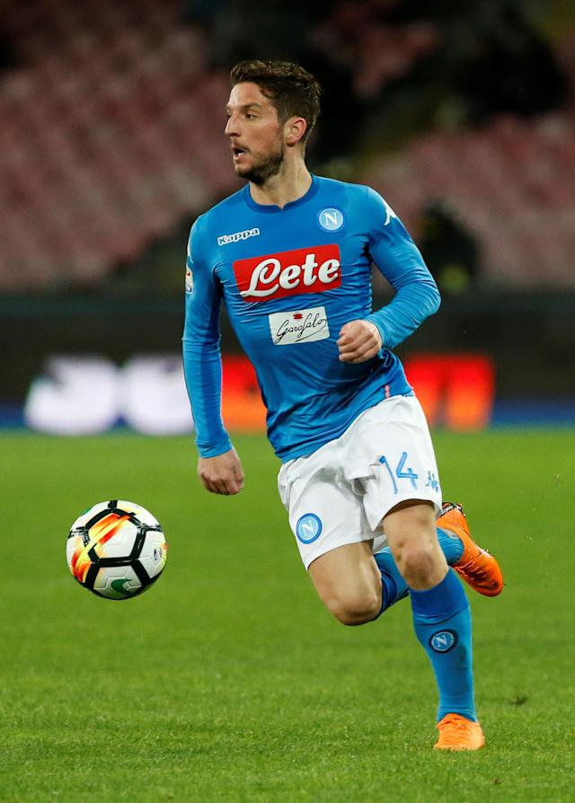 Soccer Football - Serie A - Napoli vs Genoa - Stadio San Paolo, Naples, Italy - March 18, 2018 Napoli's Dries Mertens REUTERS/Ciro De Luca