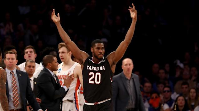 The South Carolina Gamecocks clinched their first Final Four berth in school history with a 7770 win over Florida on Sunday afternoon at Madison Square Garden in New York.
