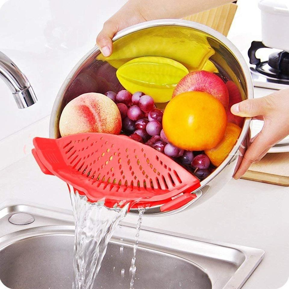 <p>They can easily strain their pasta or vegetables with this <span>Strainer With 2 Clips</span> ($10, originally $20). It's a fun gift for the person who loves making pasta.</p>