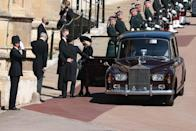 <p>Camilla, Duchess of Cornwall, arrives ahead of the ceremony. </p>
