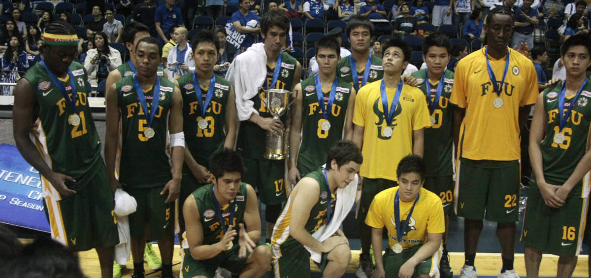FEU Tamaraws placed first runner up in the UAAP Season 74 men's basketball game after the championship series match versus Ateneo Blue Eagles at Smart Araneta Coliseum, Quezon City. (Red Santos/NPPA Images)