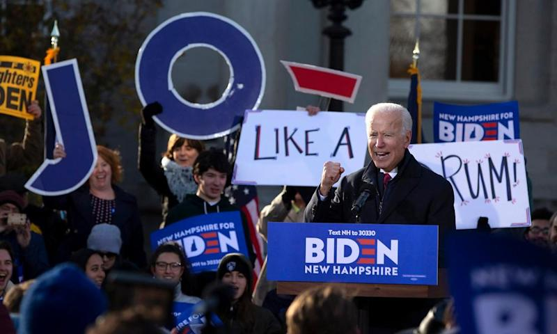 Biden in Concord. A recent University of New Hampshire poll found only 6% of Biden supporters were between 18 and 34.