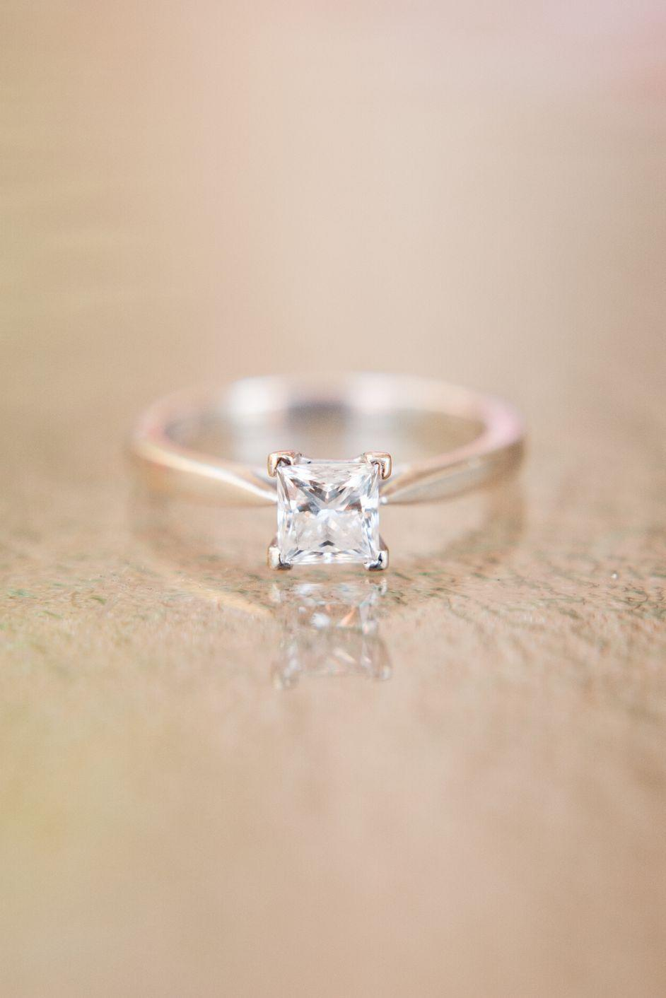 <p>Although the princess cut diamond first began circulating in the '60s, it was in the '70s that the style really took off. The look of the square diamond was either worn as a solitaire or with tapered baguettes to the side.</p>