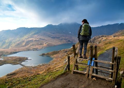 Hiking in Snowdonia - Credit: MICHAEL ROBERTS