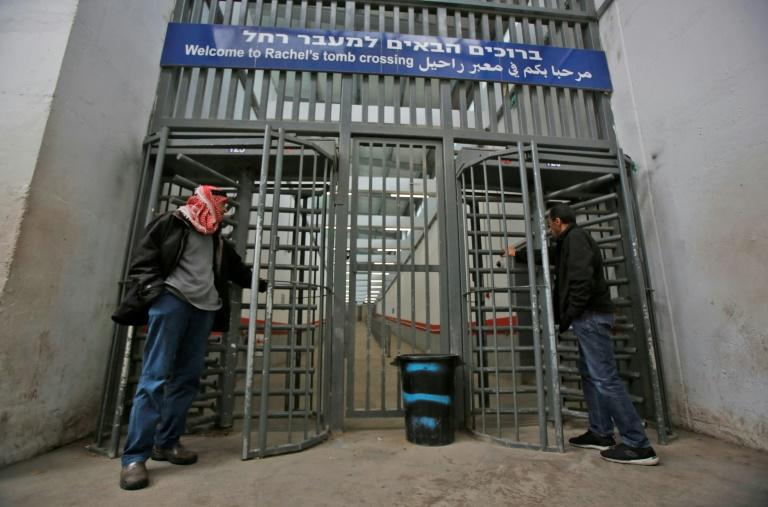 A gate leading to Rachel's Tomb in the Israeli-occupied West Bank city of Bethlehem remains closed following the lockdown
