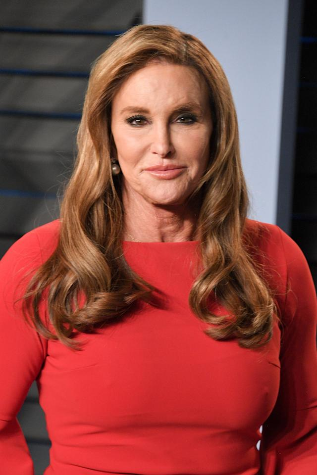 Caitlyn Jenner, at the 2018 <em> Vanity Fair</em> Oscar Party on March 24, has skin cancer. (Photo: George Pimentel/WireImage)