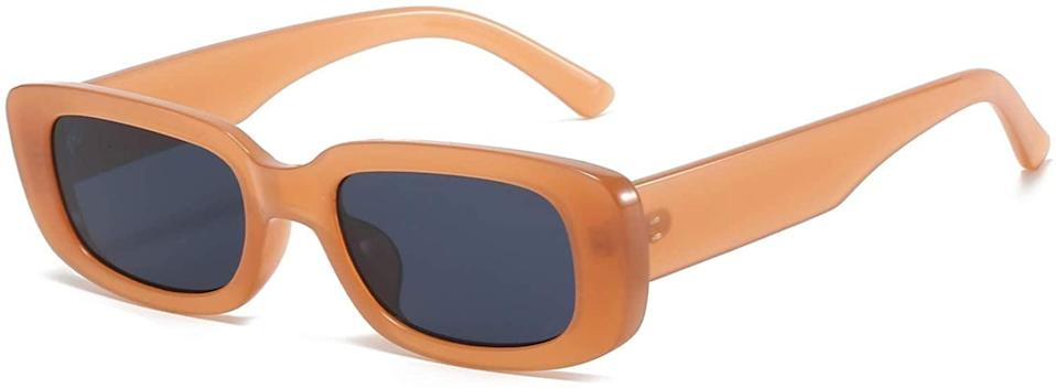 <p>Embrace the 90's with the <span>BUTABY Retro Narrow Rectangle Frame Sunglasses</span> ($11). It comes in a wide array of colors so you can rock your favorite shade.</p>