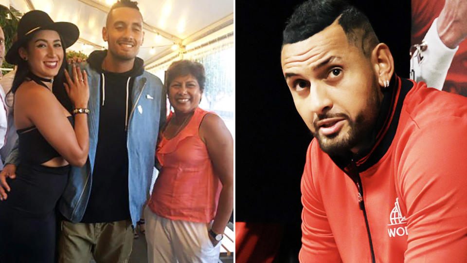 Nick Kyrgios, pictured here at the Laver Cup.