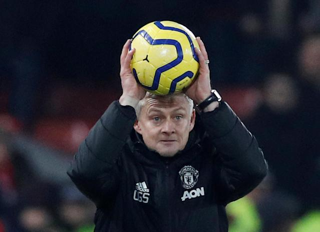 Ole Gunnar Solskjaer currently has a losing record as manager of Manchester United. (REUTERS/Phil Noble)
