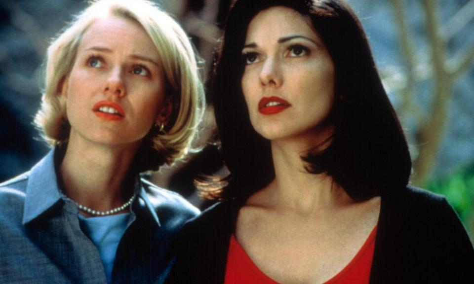 Naomi Watts, left, and Laura Harring in Mullholland Drive.