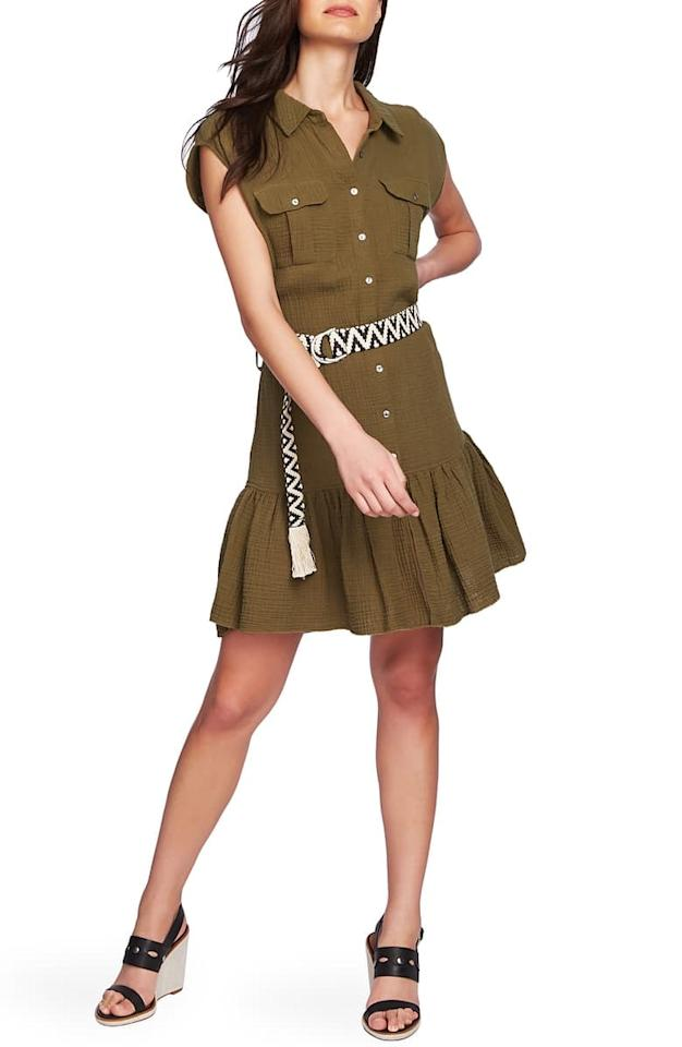 """<p>Pair this <a href=""""https://www.popsugar.com/buy/1State-Belted-Cotton-Gauze-Shirtdress-479566?p_name=1.State%20Belted%20Cotton%20Gauze%20Shirtdress&retailer=shop.nordstrom.com&pid=479566&price=77&evar1=fab%3Aus&evar9=45974897&evar98=https%3A%2F%2Fwww.popsugar.com%2Fphoto-gallery%2F45974897%2Fimage%2F46543142%2F1State-Belted-Cotton-Gauze-Shirtdress&list1=nordstrom%2Cfall%20fashion%2Csale%2Csale%20shopping&prop13=api&pdata=1"""" rel=""""nofollow"""" data-shoppable-link=""""1"""" target=""""_blank"""" class=""""ga-track"""" data-ga-category=""""Related"""" data-ga-label=""""https://shop.nordstrom.com/s/1-state-belted-cotton-gauze-shirtdress/5418956?origin=category-personalizedsort&amp;breadcrumb=Home%2FSale%2FWomen%2FNew%20Markdowns&amp;color=hunter%20green"""" data-ga-action=""""In-Line Links"""">1.State Belted Cotton Gauze Shirtdress</a> ($77, originally $129) with knee-high boots for Fall.</p>"""