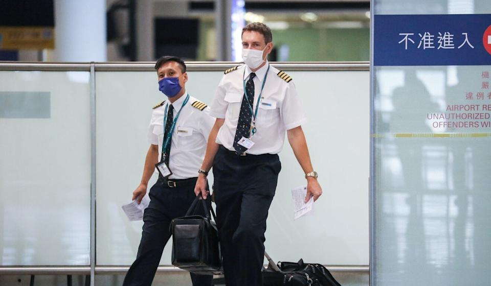 Members of the Hong Kong Aircrew Officers Association were frustrated by the lack of consultation before the salary adjustments were revealed. Photo: K. Y. Cheng