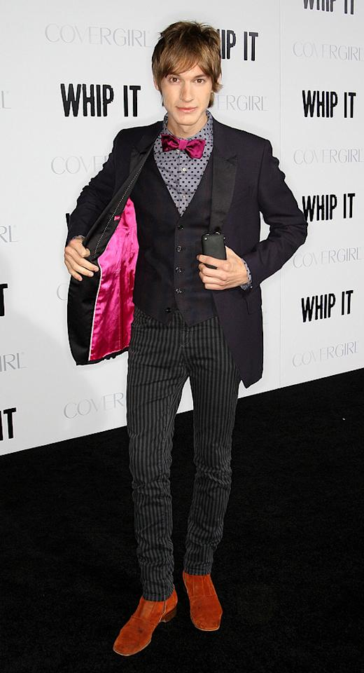 """<a href=""""http://movies.yahoo.com/movie/contributor/1810113895"""">Landon Pigg</a> at the Los Angeles premiere of <a href=""""http://movies.yahoo.com/movie/1810036665/info"""">Whip It!</a> - 09/29/2009"""