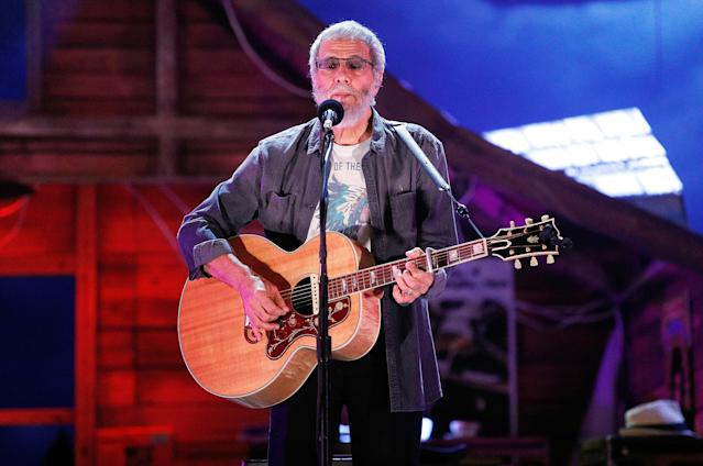 <p>Yusuf/Cat Stevens is nominated for <i>The Laughing Apple</i>. This is, amazingly, his first Grammy nomination in a career that dates back to 1967. Look for him to edge out Aimee Mann's <i>Mental Illness</i>. (Photo: Taylor Hill/Getty Images) </p>