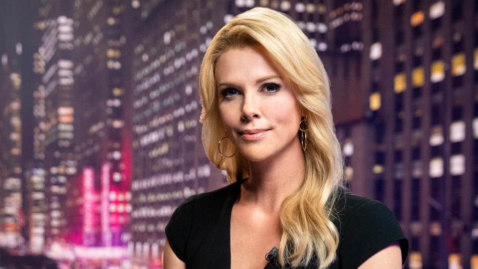 Charlize Theron as Fox News presenter Megyn Kelly in 'Bombshell'. (Credit: Lionsgate)
