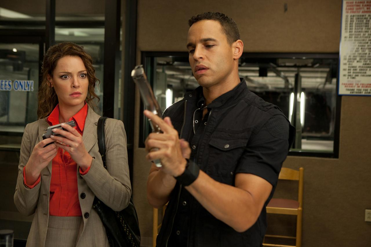 "Katherine Heigl and Daniel Sunjata in Lionsgate's ""<a href=""http://movies.yahoo.com/movie/one-for-the-money/"">One for the Money</a>"" - 2012"