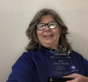 Dawn Nye, Manager of Solutions and Services Marketing, Konica Minolta, has received the 2020 Girls Who Print Girlie Award.