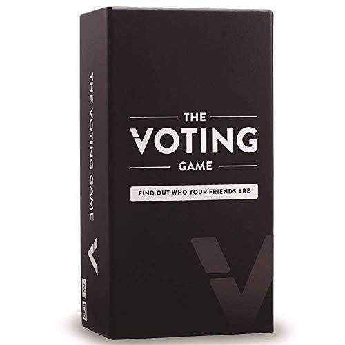 """<p><strong>The Voting Game</strong></p><p>amazon.com</p><p><strong>$24.95</strong></p><p><a href=""""https://www.amazon.com/dp/B01M4S76RH?tag=syn-yahoo-20&ascsubtag=%5Bartid%7C10050.g.34241066%5Bsrc%7Cyahoo-us"""" rel=""""nofollow noopener"""" target=""""_blank"""" data-ylk=""""slk:SHOP NOW!"""" class=""""link rapid-noclick-resp"""">SHOP NOW!</a></p><p>""""Who really orders delivery from 1 block away?"""" The answer will be revealed when you uncover the hilarious truths behind your friendships with The Voting Game.</p>"""