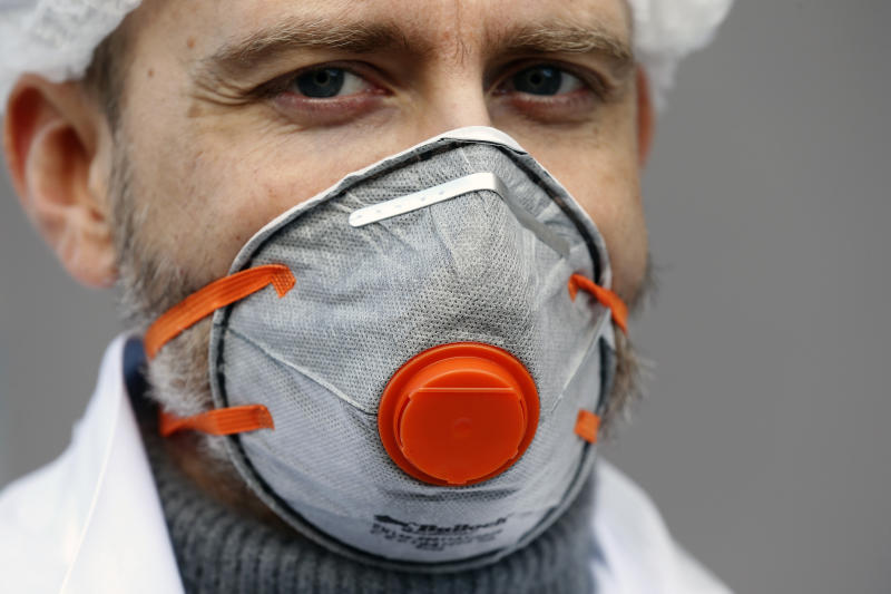 PARIS, FRANCE - APRIL 06: A medical biologist wearing a FFP2 type protective mask poses at a drive-through testing site for coronavirus disease during the coronavirus epidemic (COVID 19) on April 6, 2020, in Paris, France. The country is issuing fines for people caught violating its nationwide lockdown measures intended to stop the spread of COVID-19. The Coronavirus (COVID-19) pandemic has spread to many countries across the world, claiming over 70,000 lives and infecting over 1 million people. (Photo by Chesnot/Getty Images)