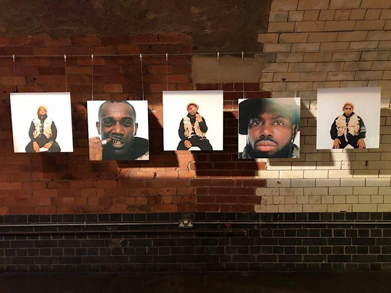Portrait artist: works on display at Ghetts' exhibition in London