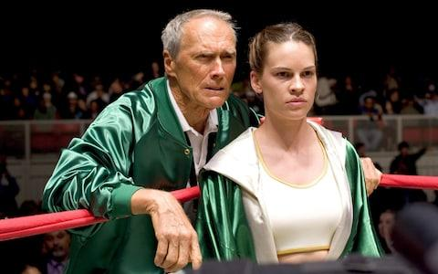 Clint Eastwood and Hillary Swank in Million Dollar Baby - Credit: AP