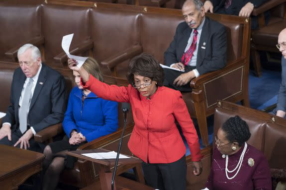"<img alt=""""/><p>If for some reason you don't know Rep. Maxine Waters: 1.) Where have you been? and 2.) Welcome. </p> <p>For the millions who've sat motionless in shock as the president signed a de facto Muslim ban and set the stage for war with China, Mexico, Australia, Iran, Germany and the star of <a rel=""nofollow"" href=""https://www.nytimes.com/2017/02/02/business/media/trump-arnold-schwarzenegger-apprentice.html?_r=0""><em>Kindergarten Co</em>p</a>, 78-year-old Maxine Waters is a gift from the heaven most us never thought existed. While many Democrats were busy using their ""indoor"" voices against Donald Trump, Waters rose so far above her bumbling party, she lost all touch with the ground. </p> <p>Trump may be President of the United States, but Maxine Waters is the President of the People (or, at least, the very sad people reading the news right now).</p> <div><p>SEE ALSO: <a rel=""nofollow"" href=""http://mashable.com/2017/01/30/trump-presidency-overwhelmed/?utm_campaign=Mash-BD-Synd-Yahoo-Watercooler-Full&utm_cid=Mash-BD-Synd-Yahoo-Watercooler-Full"">What to do when you're so overwhelmed by the Trump presidency you can barely move</a></p></div> <p>Thanks to a <a rel=""nofollow"" href=""http://www.elle.com/culture/career-politics/news/a42222/rep-maxine-waters-will-read-you-now/"">canonical <em>Elle</em> </a>write-up of a press conference Waters held where she dropkicked a mic, then set a whole room of reporters on fire, Waters has emerged as the leading figure of the Resistance. But she's more than a viral fad. Maxine Waters has a long history of being heroically Maxine Waters. Here's a far-too-brief highlight real.</p> <h2>1. The 30-second press conference she gave that made her the icon she is today.</h2> <div><p></p></div>  <h2>2. The time she told the Tea Party to go ""straight to hell,"" then promised to ""help them get there.""</h2> <h2><br></h2> <div><p></p></div>  <h2><br></h2> <h2>3. When she told an entire convention that certain Republicans were ""demons"" and that she never wanted to see them again ""on our screens."" (start at 11:15)</h2> <h2><br></h2> <div><p></p></div>  <h2><br></h2> <h2>4. When she later told one of those very same Republicans that she was ""really proud of him"" after she saw him crying in front of the Pope. (0:26)</h2> <h2><br></h2> <div><p></p></div>  <h2><br></h2> <h2><br></h2> <h2>5.  When she was horrified that people would even <em>think for a second </em>that she'd attend Trump's inauguration:</h2> <div><blockquote> <p>I never ever contemplated attending the inauguration or any activities associated w/ <a rel=""nofollow"" href=""https://twitter.com/realDonaldTrump"">@realDonaldTrump</a>. I wouldn't waste my time.</p> <p>— Maxine Waters (@MaxineWaters) <a rel=""nofollow"" href=""https://twitter.com/MaxineWaters/status/820675584418267136"">January 15, 2017</a></p> </blockquote></div> <h2>6. Then came on TV to say the same glorious thing:</h2> <h2><br></h2> <div><p></p></div>  <h2><br></h2> <h2><br></h2> <p></p>  <h2><br></h2> <h2><br></h2> <h2>7. When she sponsored <a rel=""nofollow"" href=""https://www.govtrack.us/congress/bills/110/hr6796"">HR 6796</a>, or as she actually <em>genuinely </em>submitted it, the ""Stop Very Unscrupulous Loan Transfers from Underprivileged countries from Rich Exploitive Funds Act"" (""Stop Vulture""). Strangely, the bill died in committee.</h2> <h2><br></h2> <p><img title="""" alt=""""></p> <div><p>Image:  govtrack</p></div><h2>8. All the times her face said what we were all dying to say.</h2> <h2><br></h2> <div><blockquote> <p>2017 mood: Maxine Waters <a rel=""nofollow"" href=""https://t.co/qR7HnL0nH6"">pic.twitter.com/qR7HnL0nH6</a></p> <p>— Rachel Fisher (@TheRachelFisher) <a rel=""nofollow"" href=""https://twitter.com/TheRachelFisher/status/821498311022493696"">January 17, 2017</a></p> </blockquote></div> <h2><br></h2> <h2>8. When she shamed Newt Gingrich so hard on the House floor people erupted into applause (gets kicking at 0:59, watch to the end).</h2> <div><p></p></div>  <h2>9. When she complained that Fox News tries to ""undermine us"" and ""destroy us,"" then wouldn't give their reporter the time of day.</h2> <div></div> <h2><br></h2> <h2>10. When she helped to guarantee <a rel=""nofollow"" href=""https://waters.house.gov/about-maxine/biography"">$10 billion in loans</a> for infrastructure development in cities, another $50 million for job training for underserved youth, expanded US debt relief for Africa, created a Center for Women Veterans, <a rel=""nofollow"" href=""http://www.tmz.com/2017/01/30/maxine-waters-protest-trump-muslim-ban/"">came to LAX</a> to protect detainees and otherwise served her constituents and country for the past 41 years.</h2> <h2><br></h2> <p><img title="""" alt=""""></p> <div><p>Image:  tom williams/AP</p></div><p>Wherever you are, if you can hear us Maxine — please keep fighting. And please keep appearing on cable TV.</p> <div> <h2><a rel=""nofollow"">BONUS: Here's a clip of Kellyanne Conway's previous (and mercifully brief) career in stand-up comedy</a></h2> <div></div> </div> <h2><br></h2>"