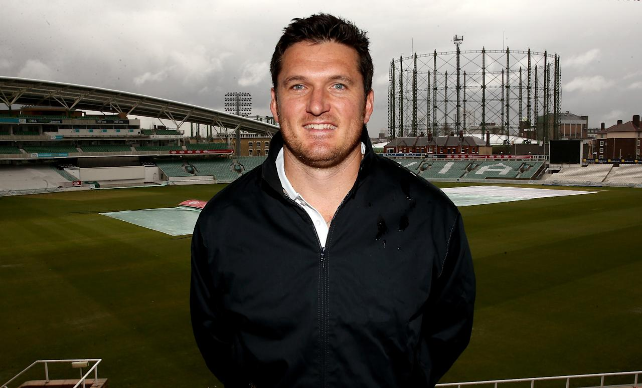 LONDON, ENGLAND - APRIL 12:  Graeme Smith of Surrey during a Surrey County Cricket Club photocall at The Brit Oval on April 12, 2013 in London, England.  (Photo by Scott Heavey/Getty Images)