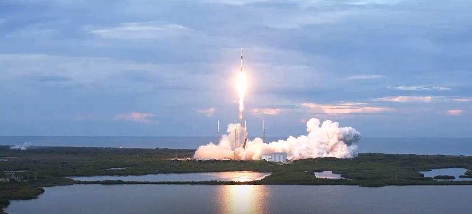Saturday (Aug. 30, 2020), SpaceX's Falcon 9 rocket blasted off from Cape Canaveral Air Force Station in Florida, carrying the SAOCOM 1B Earth-observation radar satellite for Argentina and two small rideshare payloads. This was SpaceX's 15th launch of the year, successfully lifting off at 7:18 p.m. EDT (2318 GMT). Soon after launch, the booster's first stage landed perfectly back on Earth.