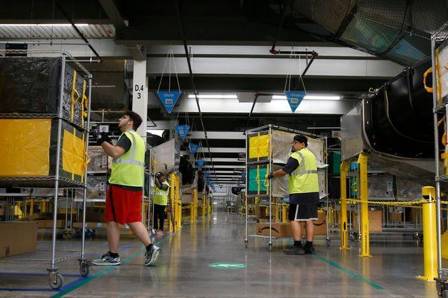 The new law applies to all large warehouses in California, but lawmakers crafted it with Amazon in mind. (Photo: via Associated Press)