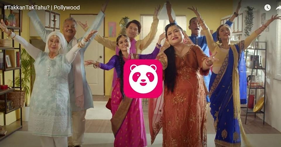 Many took to social media to slam Foodpanda Malaysia for featuring an all-Malay cast in a Bollywood-inspired promotional video. ― Screengrab via YouTube/foodpandaMalaysia