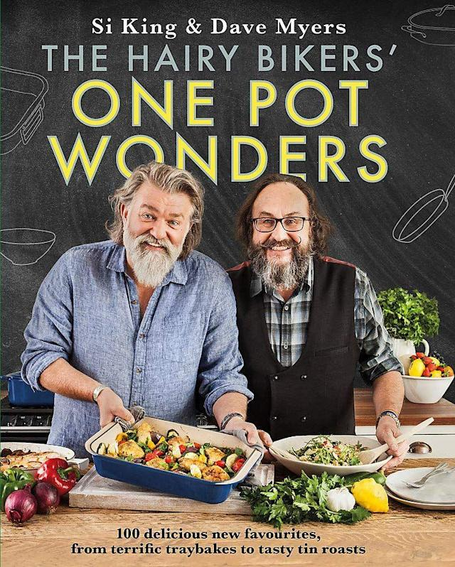 """<p>You had me at 'hairy'. Si and Dave are back and oh haven't we missed them. This book genuinely has it all, satisfying soups, terrific tray bakes, pies and pot roasts, and even some yummy puds. They seriously know what they're talking about.<br></p><p><a class=""""link rapid-noclick-resp"""" href=""""https://www.amazon.co.uk/Hairy-Bikers-One-Pot-Wonders/dp/1409171930/ref=sr_1_1?keywords=the+hairy+bikers+one+pot+wonders&qid=1567180130&s=gateway&sr=8-1&tag=hearstuk-yahoo-21&ascsubtag=%5Bartid%7C2159.g.28871146%5Bsrc%7Cyahoo-uk"""" rel=""""nofollow noopener"""" target=""""_blank"""" data-ylk=""""slk:BUY NOW"""">BUY NOW </a> <strong>The Hairy Bikers': One Pot Wonders, amazon.co.uk</strong></p>"""