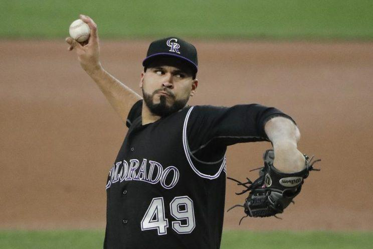 Rookie starter Antonio Senzatela has been an early bright spot for the Rockies. He'll start Sunday's finale against the Dodgers. (AP)