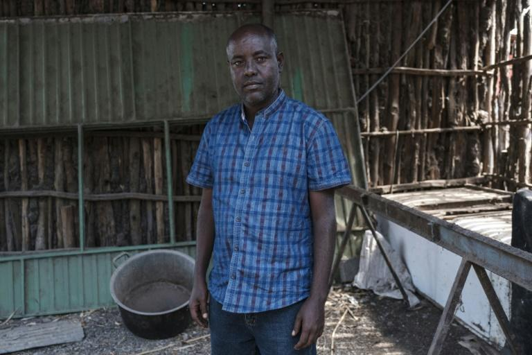 Berhanu Belay Teferra, pictured at his home in Alamata after being released as a prisoner of the Tigray People's Liberation Front