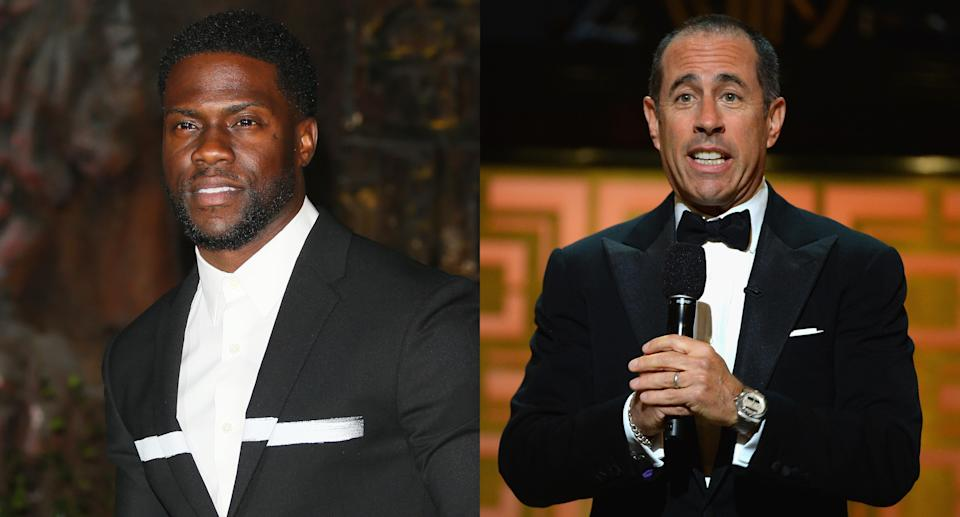 Kevin Hart and Jerry Seinfeld. (Photos: Getty Images)