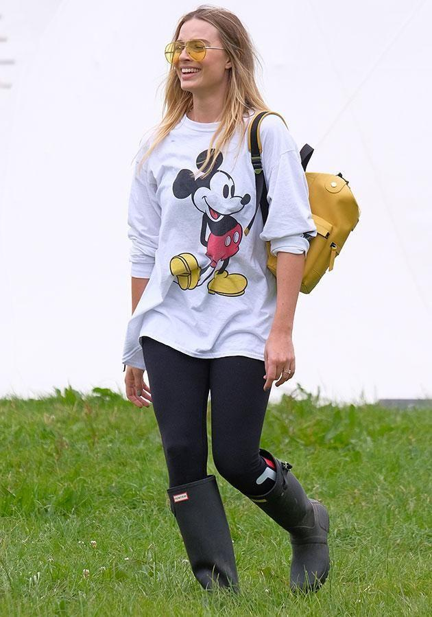 Margot got good use out of her gumboots! Source: Getty