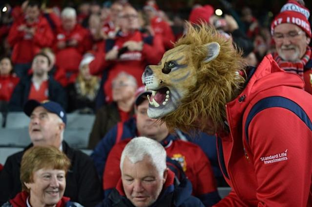 Warren Gatland's third tour as British & Irish Lions coach will likely see the world record for a Test match attendance broken in South Africa in 2021 (AFP Photo/PETER PARKS)