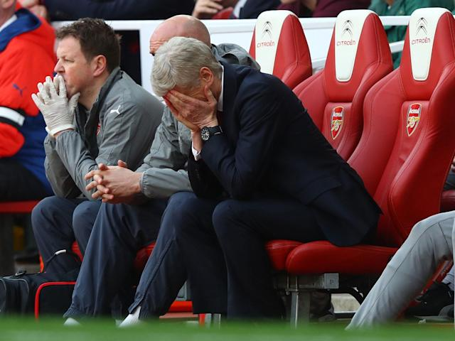 Arsene Wenger's side were punished for their frantic start to the game: Getty