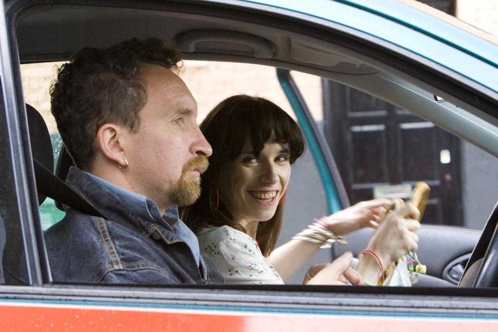 """<a href=""""http://movies.yahoo.com/movie/contributor/1804513765"""">Eddie Marsan</a> and <a href=""""http://movies.yahoo.com/movie/contributor/1808434771"""">Sally Hawkins</a> in Miramax Films' <a href=""""http://movies.yahoo.com/movie/1809934812/info"""">Happy-Go-Lucky</a> - 2008"""
