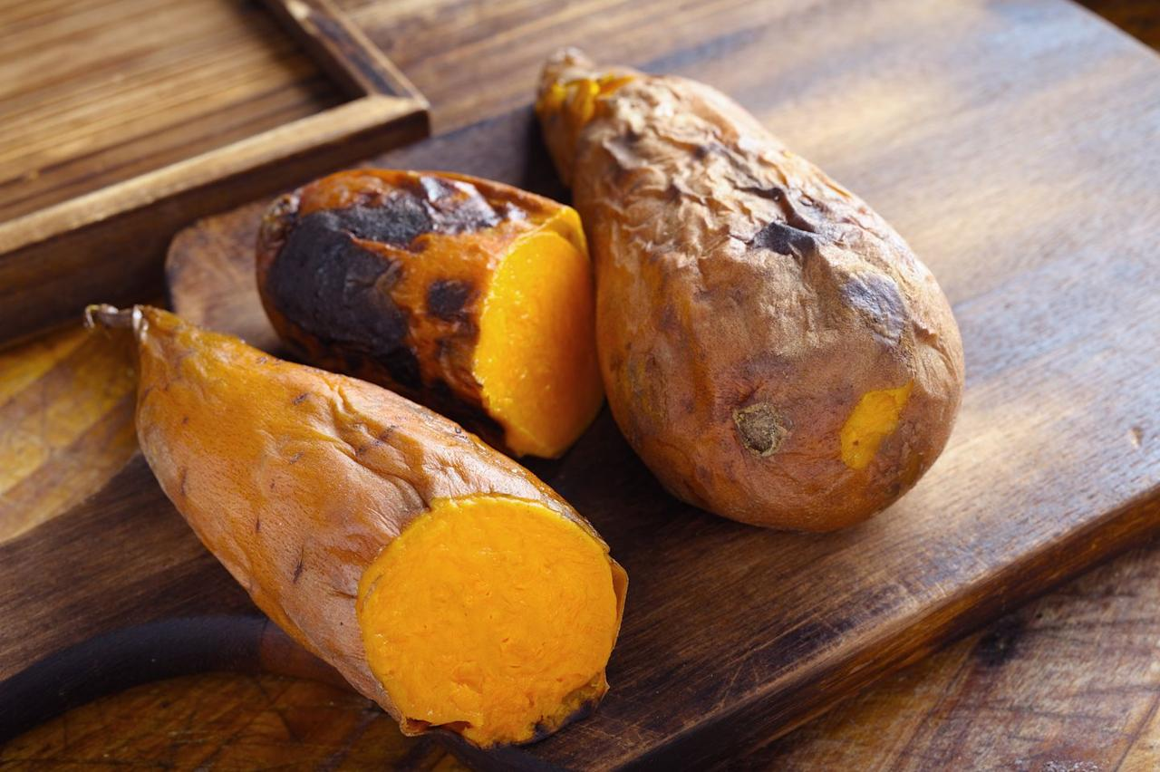 "<p>Sweet <a href=""https://www.bicycling.com/health-nutrition/a23693108/potato-calories-and-benefits/"" target=""_blank"">potato</a> fry fans, you're in luck-these orange root vegetables are chock-full of nutrients. A medium-sized cooked potato has about 103 calories, 24 grams of carbs, four grams of fiber, and a significant amount of vitamin A, vitamin C, and manganese. </p>"