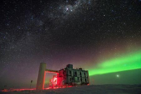 Elusive 'ghost particle' is trapped in giant ice cube